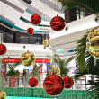 Winter decorated shopping mall in Bucharest Romania — Stock Photo