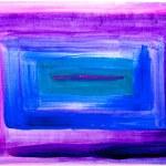 pittura astratta quadrato viola e blu — Foto Stock