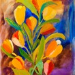 Tulips painting in acrylic by Kay Gale — Stockfoto