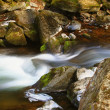 Blurred river through rocks — Stock Photo