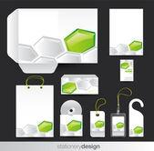 Stationary set design — Stock Vector