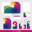 Stock Vector: Stationery design set