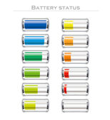 Battery status — Stock Vector