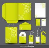 Sistema de diseño de papelería — Vector de stock