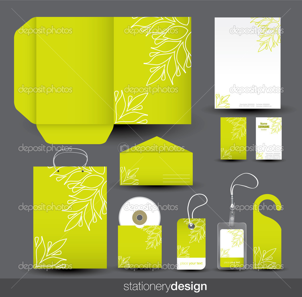 Stationery design set in vector format — Stock Vector #9202732