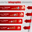 Infographic elements in vector format — Stock Vector #9219680