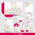 Funky stationery set design — Stock Vector