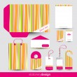 Stationery design set — Stock Vector