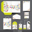 Stock Vector: Stationery template design