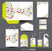 Stationery template design — Stock Vector