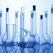 Lab assorted glassware equipment - Stock Photo