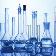Lab assorted glassware equipment — Foto Stock
