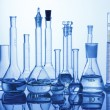 Lab assorted glassware equipment — Stock Photo