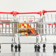 Shopping Cart with Food — Stock fotografie