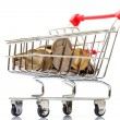 Stock Photo: Shopping Cart with Coins