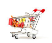 Shopping Cart with Food — Stock Photo