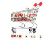 Shopping Cart, Concept of a Full Range of Products — Stock Photo