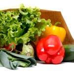 Grocery bag full of vegetables — Stock Photo