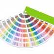 Color guide swatch — Stockfoto