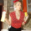 Kitchen-maid - Stock Photo