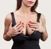 Breasted woman — Stock Photo