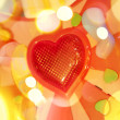 Background with red heart - Stock Photo