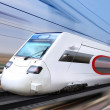 White super streamlined train — Stock Photo
