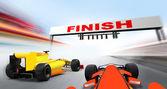 Formel 1-bilar — Stockfoto