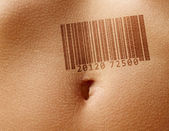 Stomach with barcode — Stock Photo