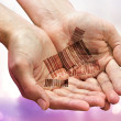 Hands with barcodes - Stockfoto
