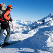 Winter mountaineering — Stock Photo #8964531