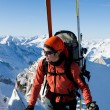 Stock Photo: Winter mountaineering