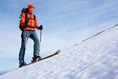 Skitouren — Stockfoto
