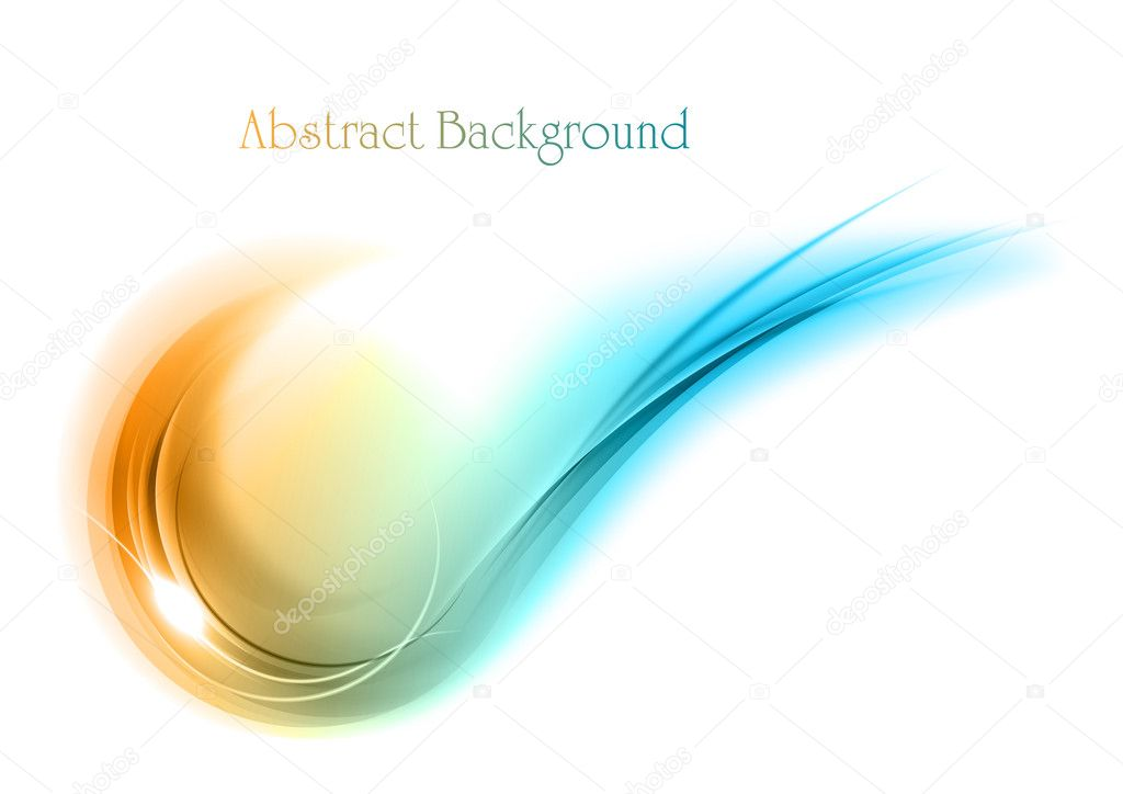 Blue and orange abstract shape — Stock Vector #10207770