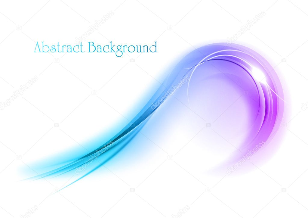 Purple shape on the white background — Stock Vector #10207776