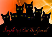 Black cats — Stockvector