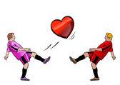 Herz spieler — Stockvektor