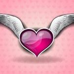 Flying heart — Stock Vector #8439429