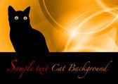 Black cat — Stock Vector