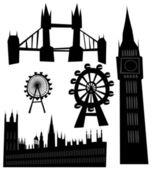 矢量伦敦地标 — 图库矢量图片