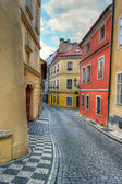 Prague alleyway — Stock Photo