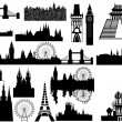 World landmarks - vector — Stock Vector