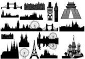 World landmarks - vector — Stock Vector
