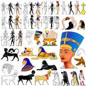 Vektor - forntida egypten — Stockvektor