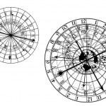 Astronomical clock - vector — Stock Vector #8797653