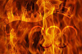 Undying олимпийский огонь — Стоковое фото