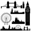 Vector London landmarks - Stock Vector