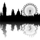 Vector London skyline — Stock Vector
