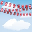 Union Jack bunting flags — Stock Vector