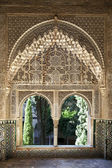 Alhambra windows — Stock Photo